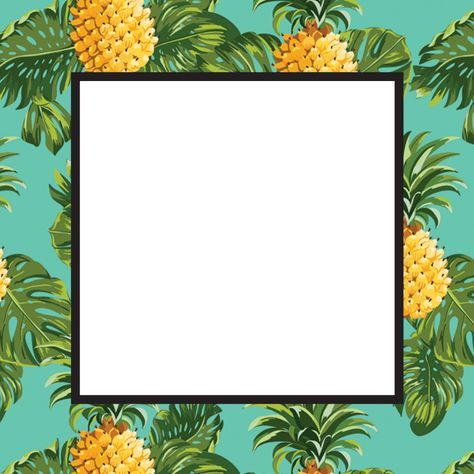 Pineapple Print Free Printable Summer Party Invitation Template