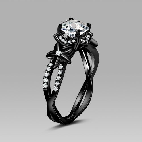 Goth Engagement Rings Ringscladdagh