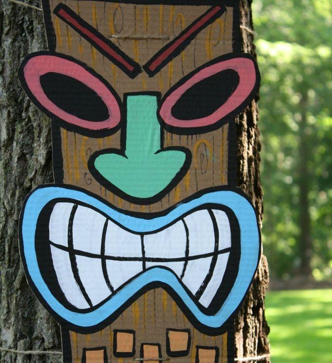 Cardboard Masks To Decorate 30 Diy Paper Mask Design Ideas  Tiki Mask Luau Theme And Luau