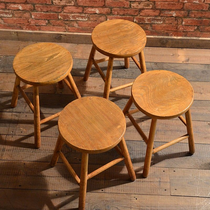 Set of four French country stools dating to the turn of the century  [£495.00. Antique ChairsAntique ... - Set Of Four French Country Stools Dating To The Turn Of The Century