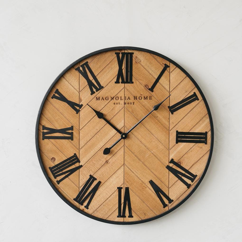 Delia Wooden Roman Numeral Wall Clock Roman Numeral Wall Clock Wall Clock Large Wall Clock