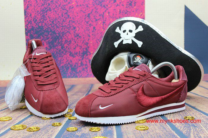 ... coupon code nike cortez embroidery wine red white shoes 0ace7 09ade 451c80adf