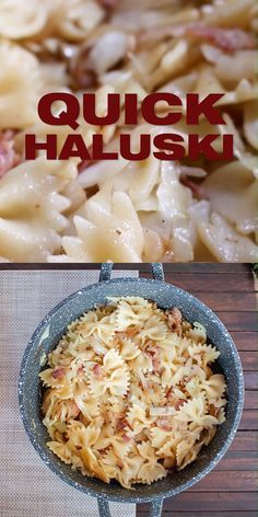 Photo of Quick Haluski (Halušky) recipe Haluski with your favorite pasta noodle choice a…