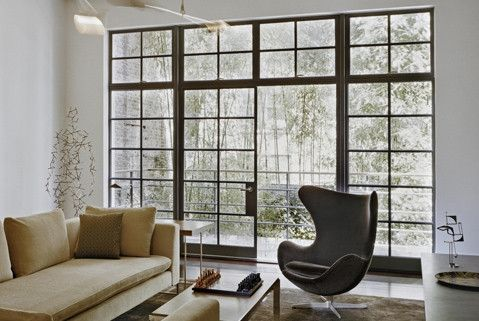 Steel Framed Windows Courtyard Garden And Pool Designs Steel Doors And Windows Home Steel Windows