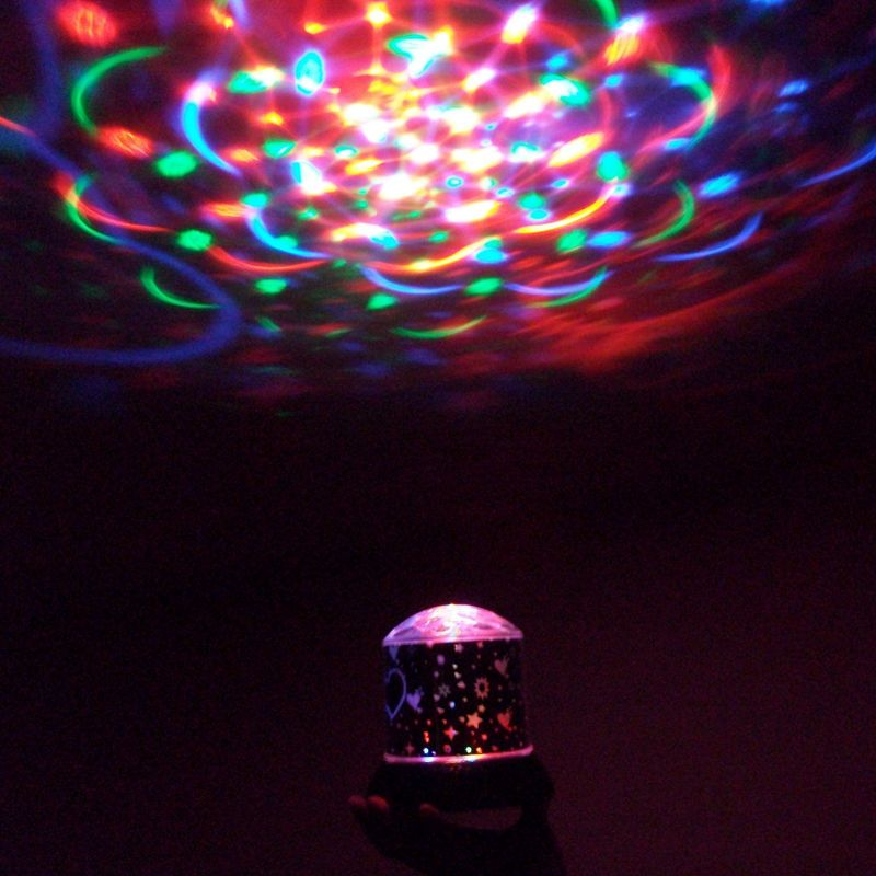 1353 Dream Coloured Rotating Projection Lamp Colorful Rotating Fantasy Star Project Light Creative Romantic Star Birth Light Project Stage Lighting Cheap Lamps