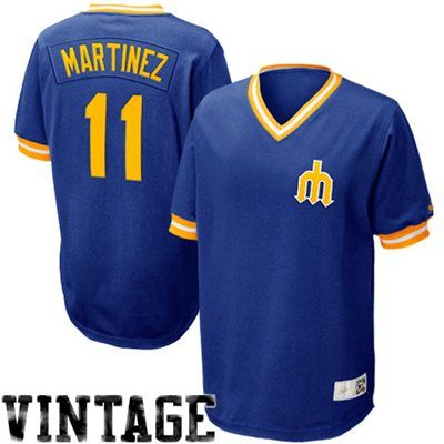 Nike Edgar Martinez Seattle Mariners Cooperstown Collection Throwback Jersey  - Royal Blue befb593620bb4