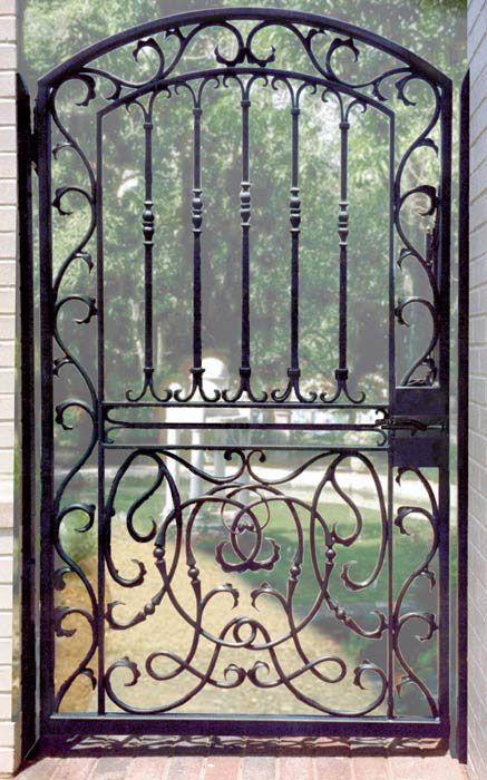 Wrought Iron Entry Gates | Garden Gates, Wrought Iron Gate Design