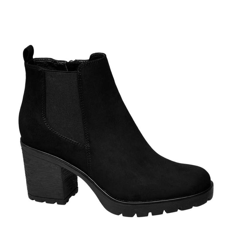 vanHaren Graceland chelsea boots zwart, Zwart | Laarzen