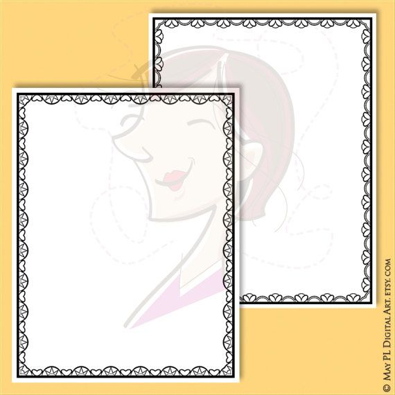 Lace Border Frames 8x11, Clipart great for decorating Documents, DIY ...