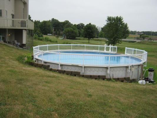 Above Ground Pool Built Into Hillside Building A