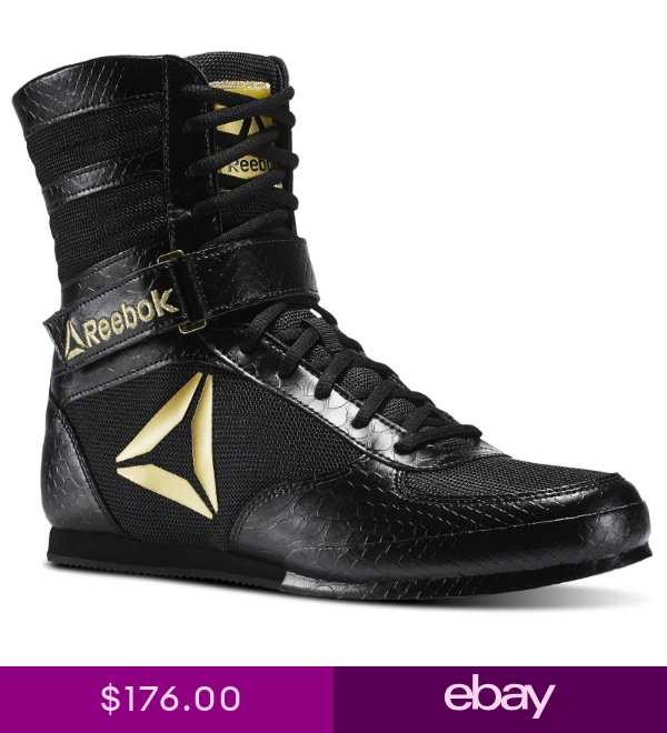 Reebok UFC Training Crossfit Boxing Boots Shoes Black Gold CN5079 size 7 to 14