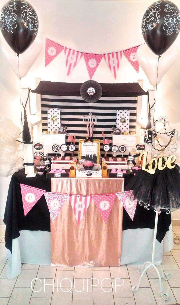 gossip girl birthday party ideas girl birthday party ideas