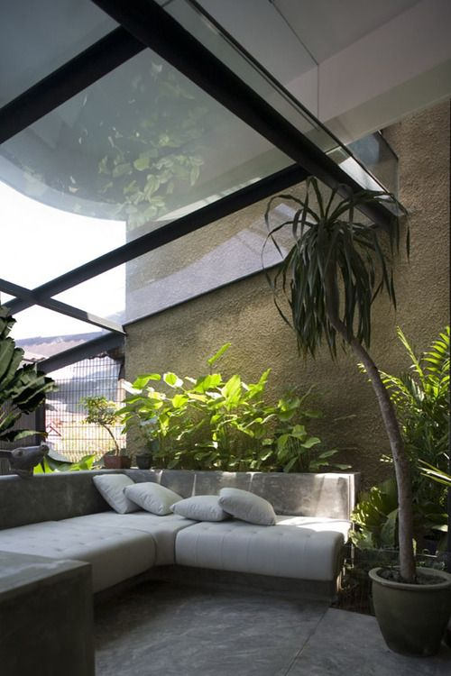 Glass Roof Design Ideas Applied In Gardens In Modern Home For Home