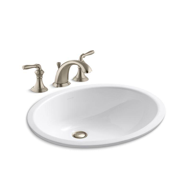 Kohler K-394-4/K-2210 Devonshire Widespread Bathroom Faucet with Pop ...