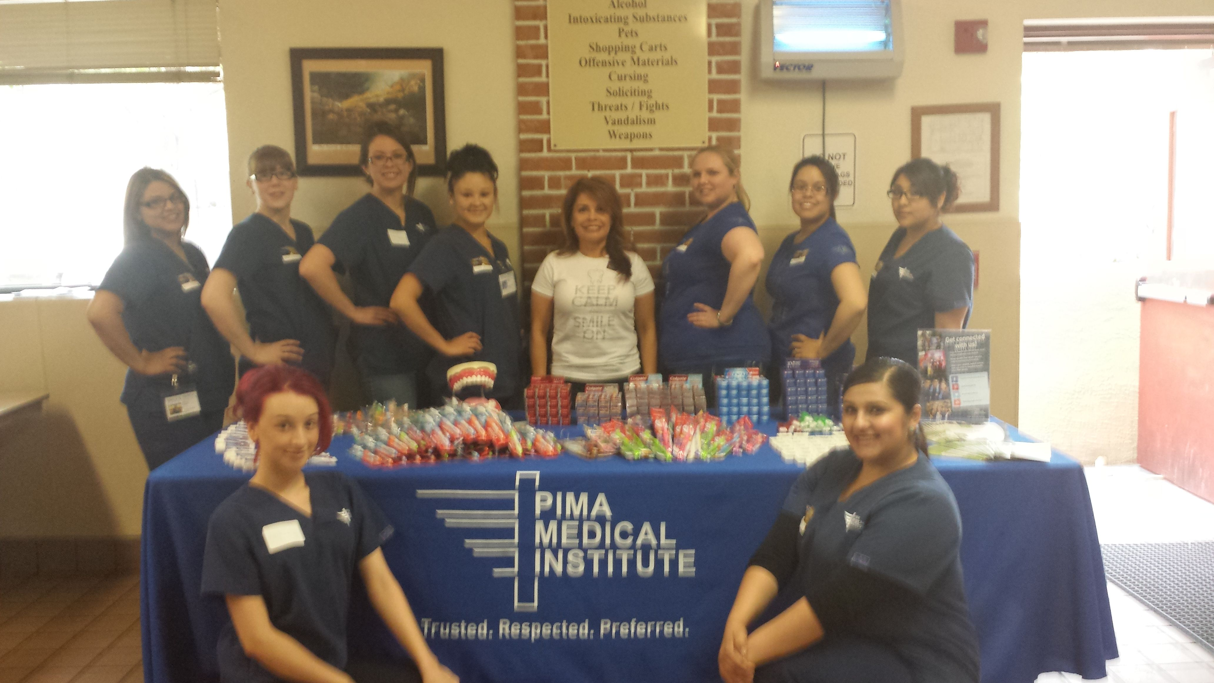 Dental assistant and medical assistant students from the