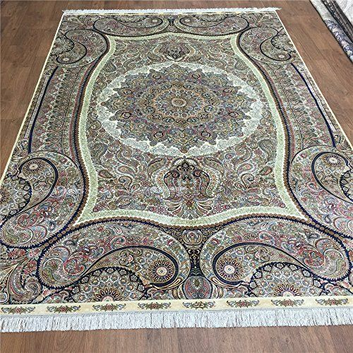 Camel Carpet Hand Knotted Silk Persian Oriental Kitchen Area Rugs 6u0027x9u0027  Http: