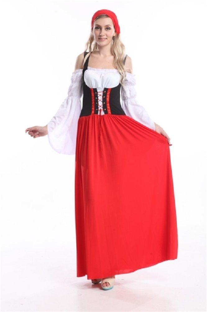 Ladies Sexy Wench Oktoberfest German Maid Fancy Dress Costume