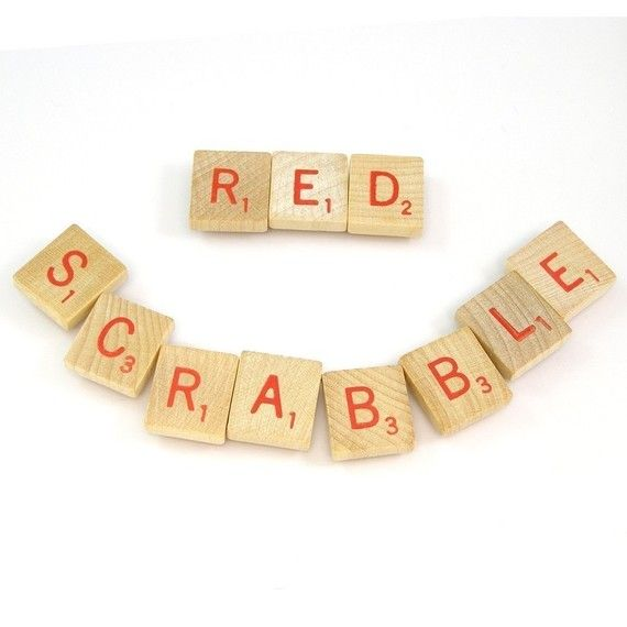 Red Scrabble Letters Choose your letters and quantity