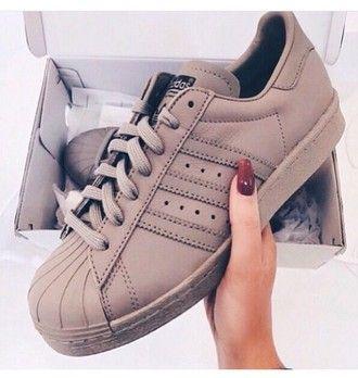 d2236a56811d9 shoes beige brown nude trainers adidas originals superstar adidas originals…