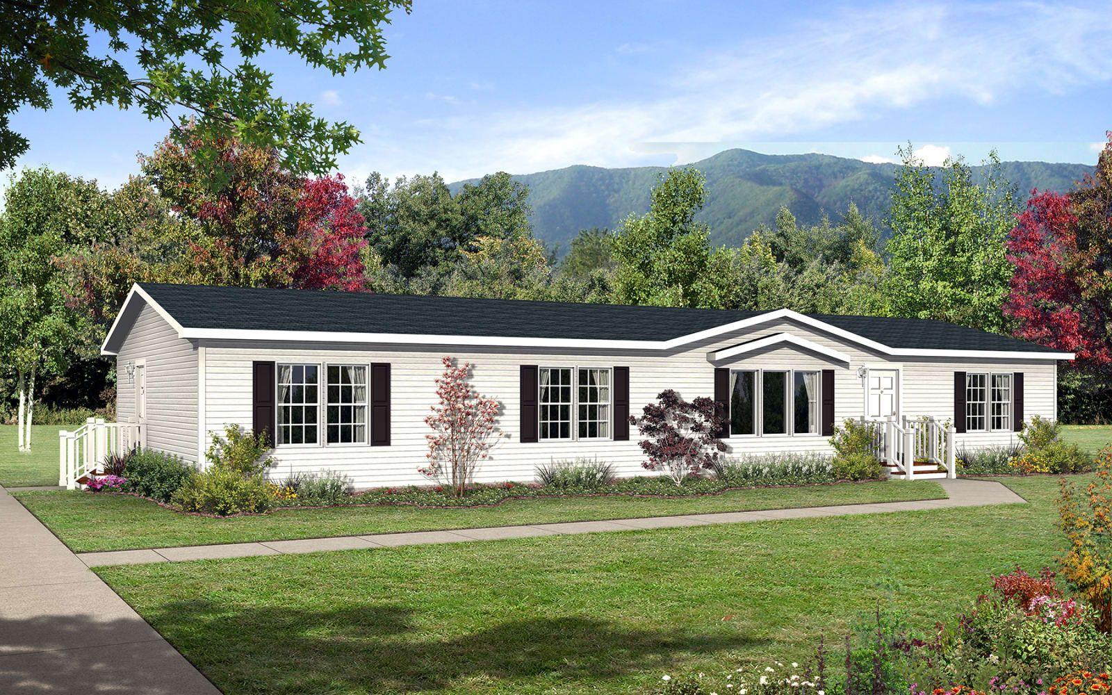 Gold Star 2872 201 Exterior White Exterior Houses House Exterior Mobile Home Exteriors
