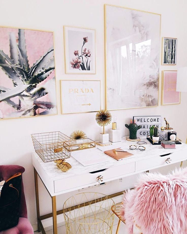 Cute Officedesk Ideas: Desk Goals ..Set Up Your Work Environment To Breed