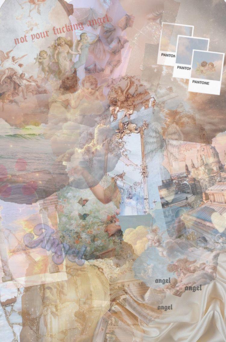 Angel Aesthetic Aesthetic Desktop Wallpaper Aesthetic Iphone Wallpaper Aesthetic Pastel Wallpaper