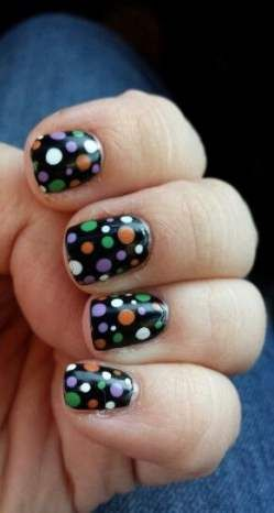 20 New Ideas Nails Orange Green Purple | Green nails ...