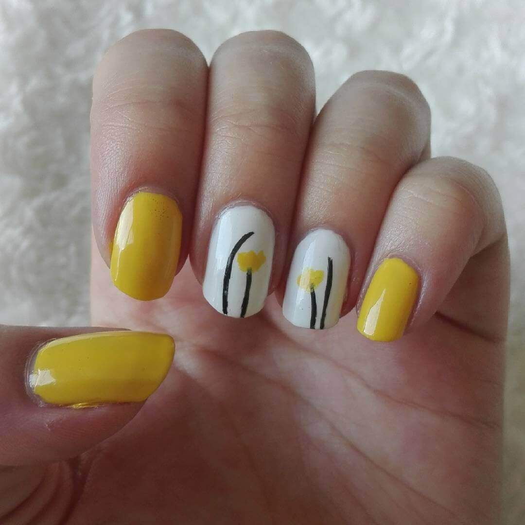 Ideas para pintar tus uñas de color amarillo - Yellow ...