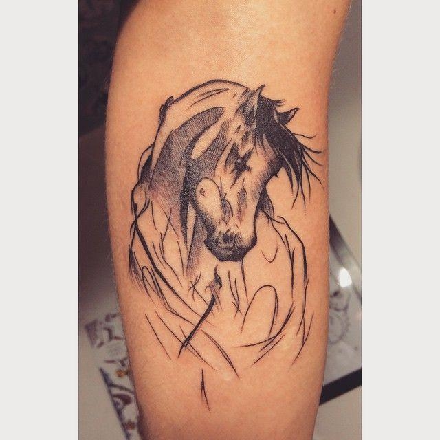 horse tattoo | tattoo | tatouage, tatouage chevaux et tatouage aquarelle