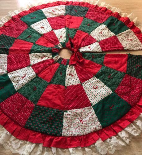 Naoyco Teinxi On Christmas Tree Skirts Quilted Skirt Handmade