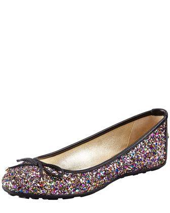 3e7faee9723 Black Walsh Glitter Ballet Flat by Jimmy Choo.... I want these ...