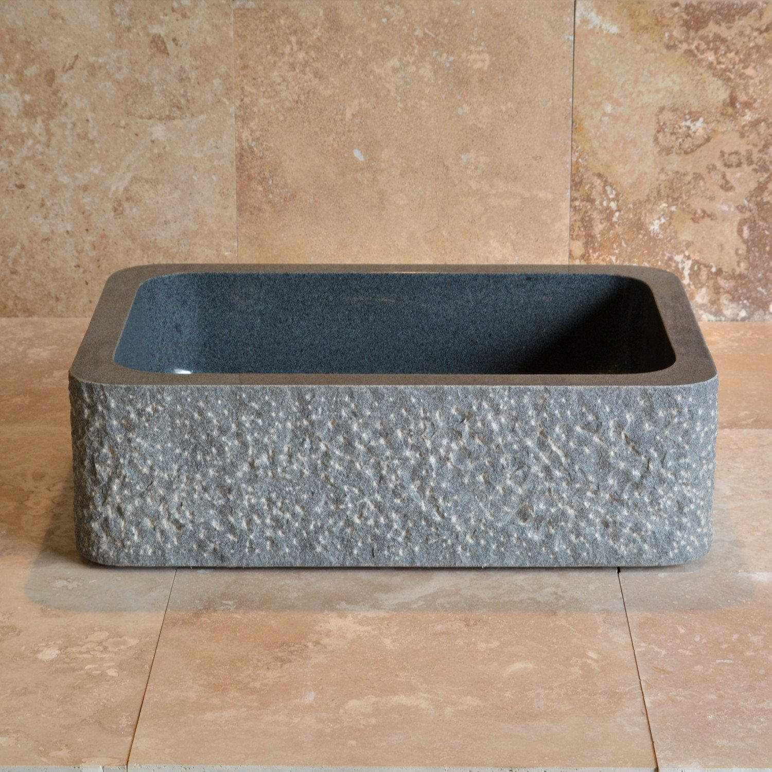 Farmhouse Sink With Chiseled Apron 8 Inch Depth Stone Forest