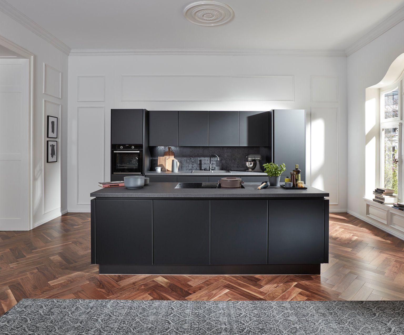 design küche in schwarz supermatt - küche&co | küchen design