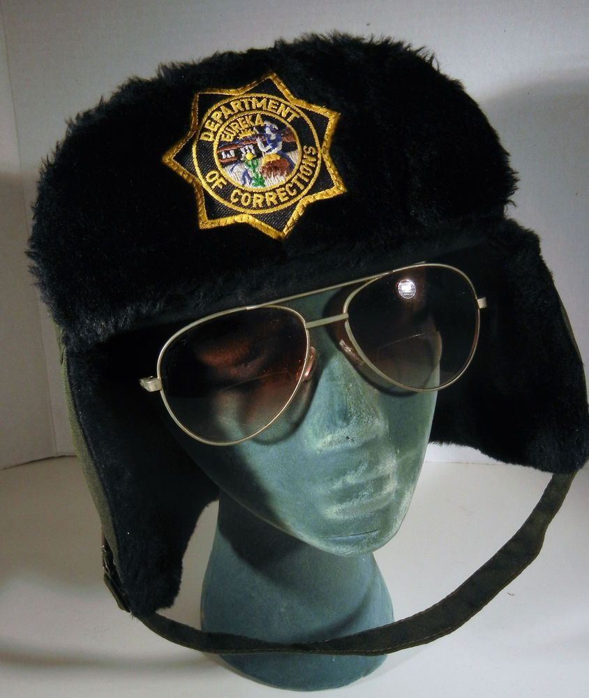 16211c5f796 Arctic Trapper Cap Winter Hat Blauer Olive Green Trooper Police Mens 2XL   Blauer  TrapperHat