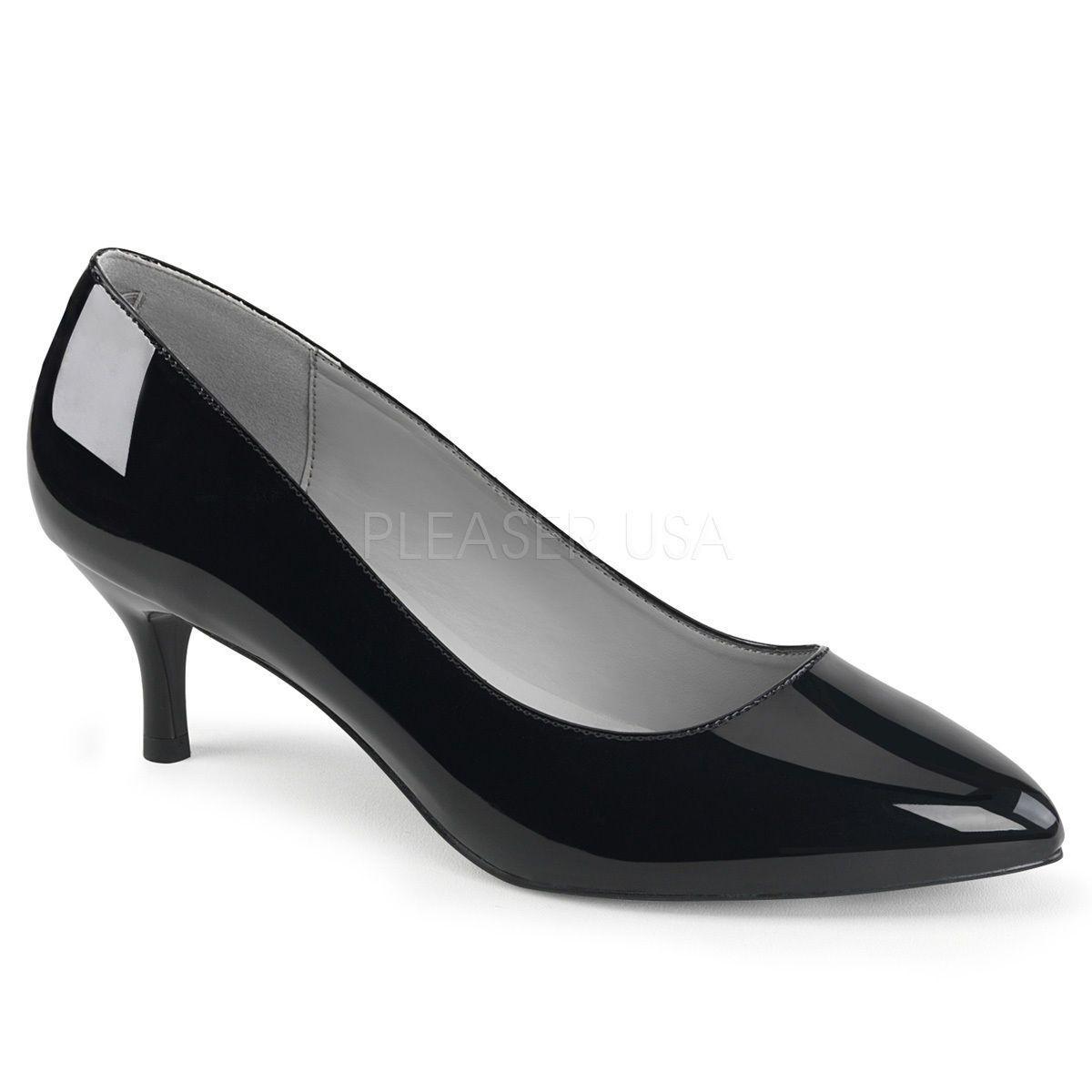 c5b76dcbbd0 Black Kitten Heels Drag Queen Crossdresser Large Size Womans Shoes Pumps 14  15
