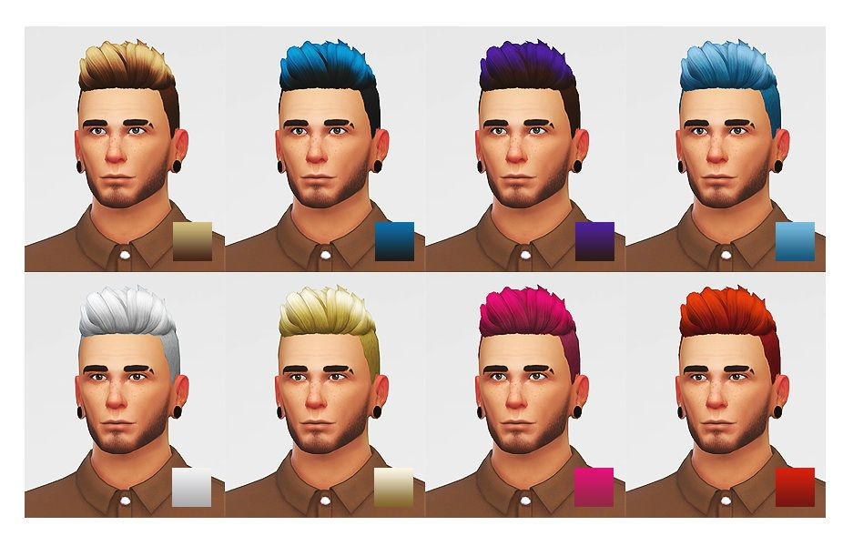 Lumia Lover Sims: Slicked back shaved hairstyle   Male