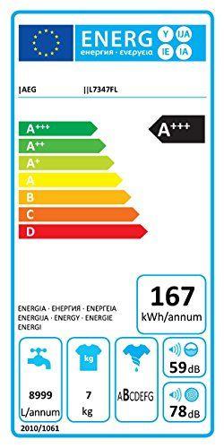 AEG L7347FL Waschmaschine   A+++   167 kWh Jahr   amazon Pinterest - rauchmelder in der küche