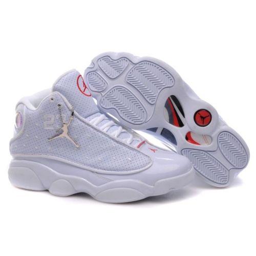 Air Jordan Retro 13 Shoes All White// K E N THE DOLL GANG ...