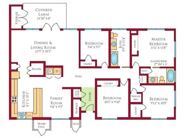 Forest City Residential Management Inc House Floor Plans Floor Plans House Plans