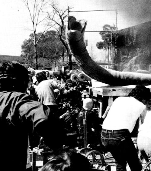 Filming the Sandworm: behind the scenes of Dune, circa 1983.
