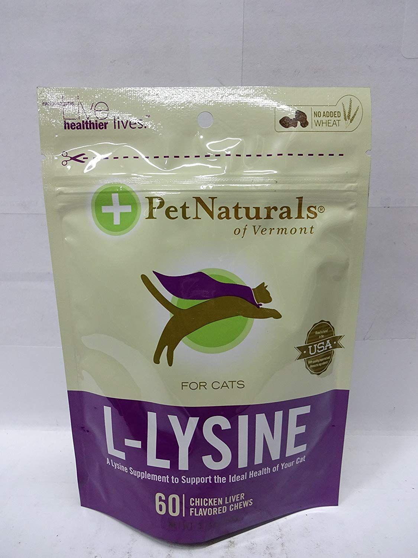Pet Naturals of Vermont LLysine 60 FunShaped Chews for