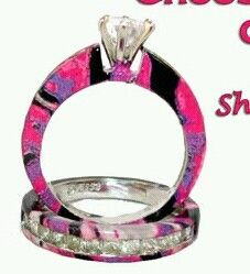 Black And Pink Engagement Rings Camopinkblackmuddygirlcamo
