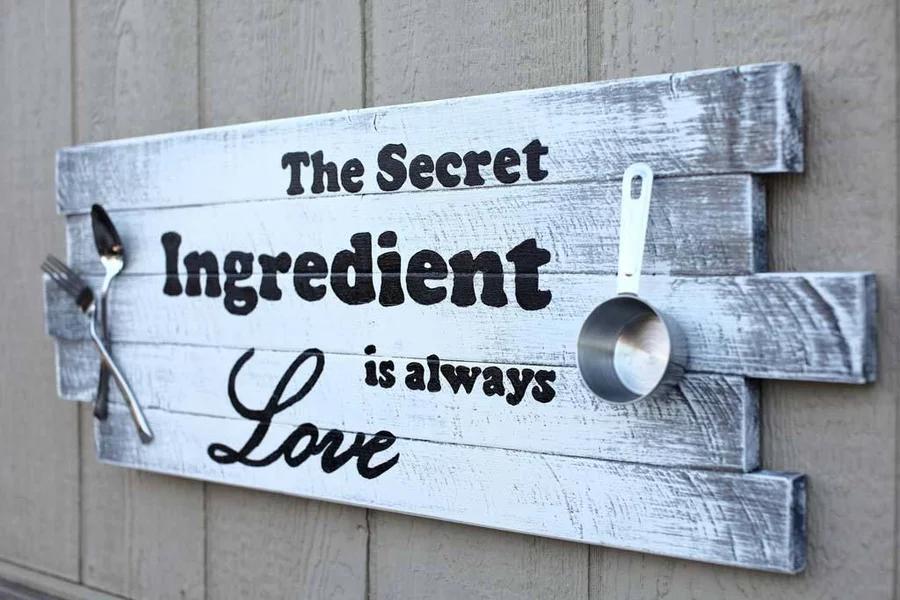 wooden kitchen sign | letrero de madera rústica, letreros