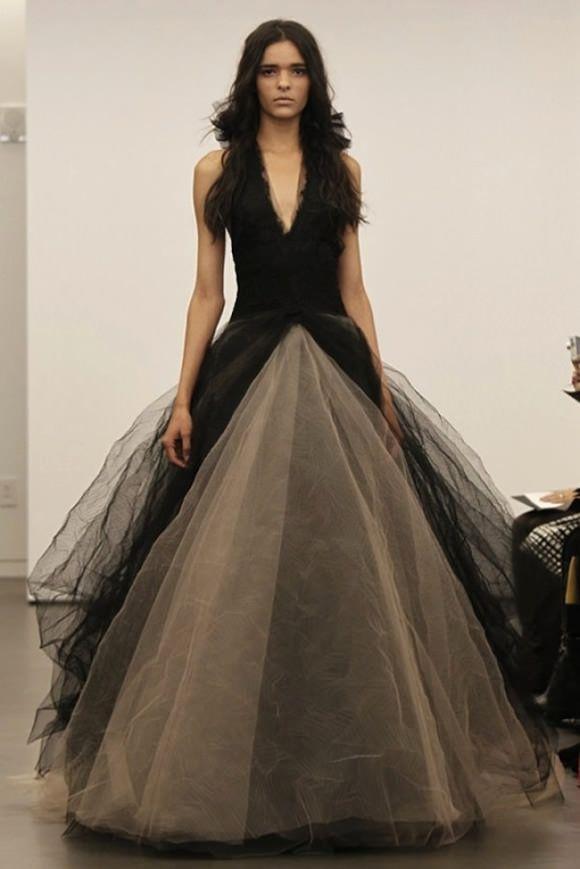 Schwarze Hochzeitskleid. Shocking Innovation von Vera Wang | Carrie ...