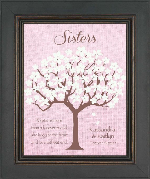 SISTERS Personalized Gift Birthday For By KreationsbyMarilyn 1500