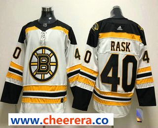 8ef53950478 Men s Boston Bruins  40 Tuukka Rask White 2017-2018 Hockey Stitched NHL  Jersey