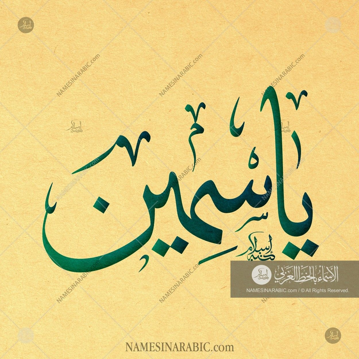 Yasmin Name In Arabic Calligraphy Calligraphy Name Calligraphy Islamic Art Calligraphy