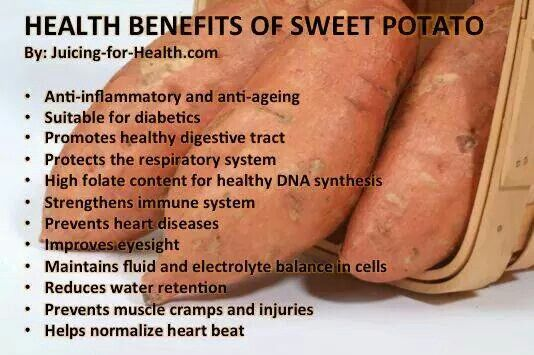 Sweet potato health facts