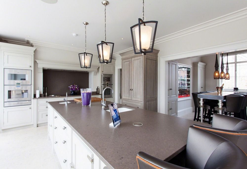 Bespoke, hand painted kitchen, Cheshire Vicarage from The Design Practice by Uber