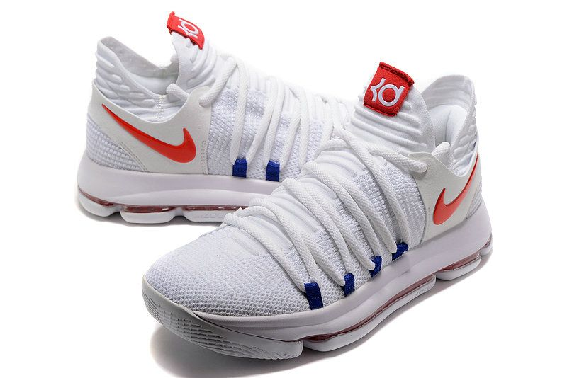 promo code 5c019 4300f Cheapest And Latest Newest And Cheapest New Kevin Durant Shoes KD 10 X USA  Home White University Red